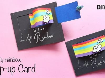 DIY Rainbow Pull Out Card   Pop Up Card   Handmade Card