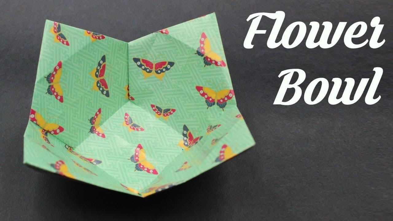 Flower Shape Bowl, Easy Origami for Kids, Basic origami, Simple Origami for Beginners, Paper Origami