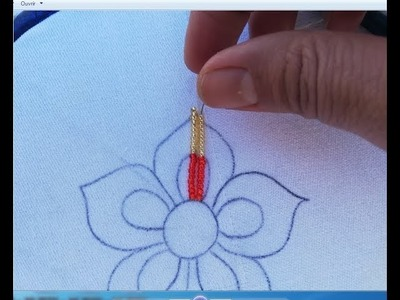 Hand Embroidery with beads,beads flower