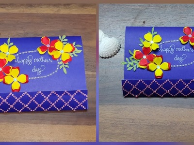 Handmade greeting card for mother's day.Gift ideas for mother's day.DIY for mother's day.art n craft