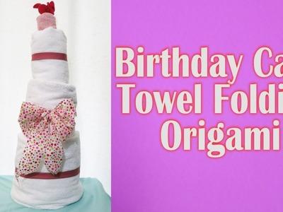 ????Happy Birthday Cake???? Towel Folding Origami