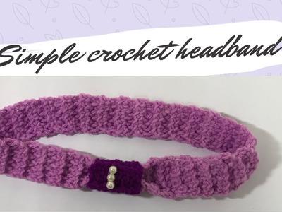 How to Crochet a Headband. Malayalam Tutorial