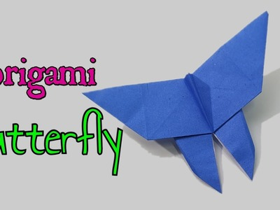 How to make a origami butterfly. Easy to fold paper