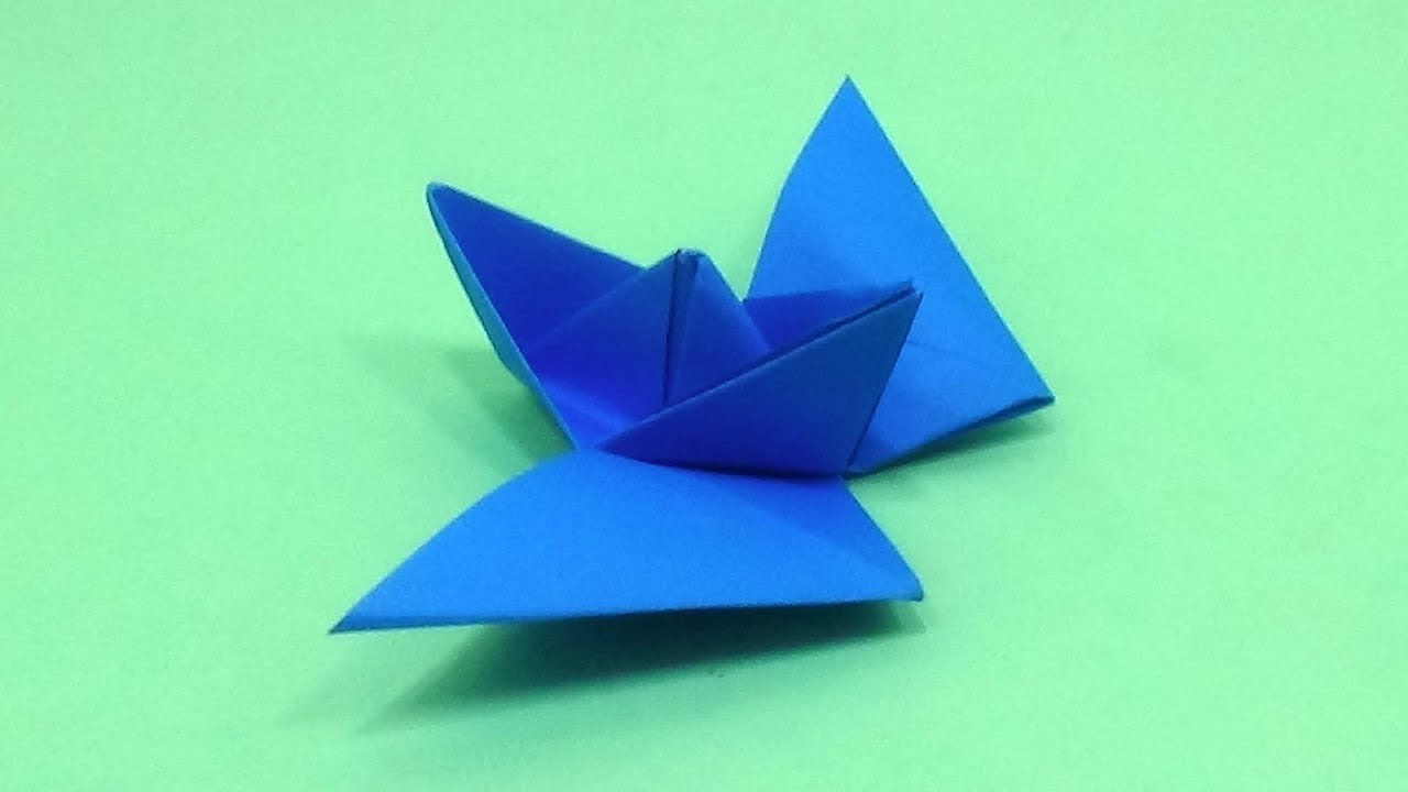 How To Make a Paper Boat That Has Two Wings - Flying Origami Boat