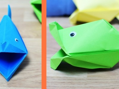 How to Make a Paper Fish That Talks - origami fish