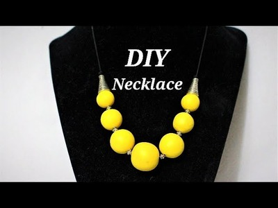 How To Make Beads With Polymer Clay Scraps and Leftovers | Simple Polymer Clay Necklace With Beads
