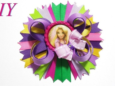 How To Make Hair Bows ???? DIY #238 Rapunzel Inspired Mini Boutique Hair Bow Tutorial