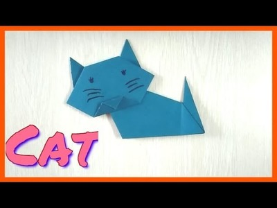 How to make Paper origami crafts cat for kids it's easy to make with paper