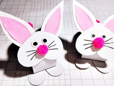 How to make rabbit from paper |paper craft idea | kids crafts|kb crafter