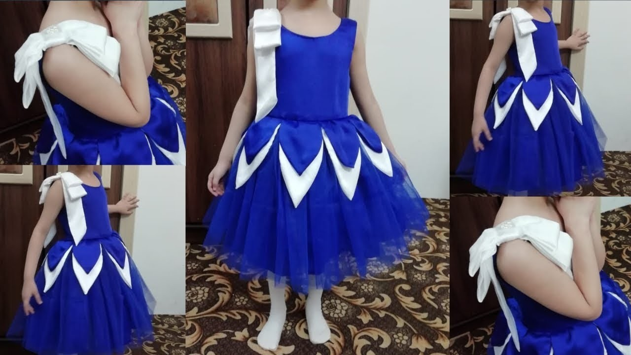 Kids frock cutting and stitching|| designer dress for 5year girl || sewing tutorial