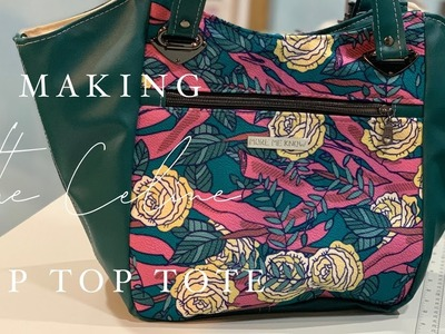 Making the Celine Zip Top Tote by Swoon Sewing Patterns