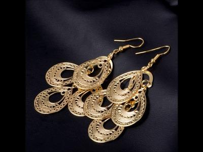 Punk Women Waterdrop long Dangle Earring Charm Jewelry