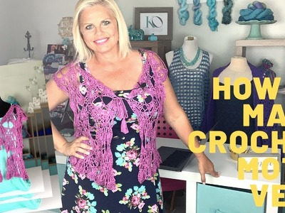 Sabrina Crochet Topper Vest LEFT HAND