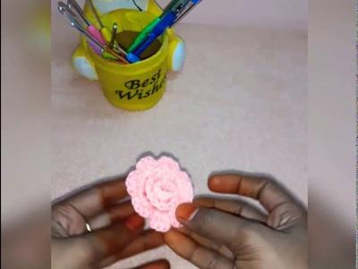 Simple Crochet Rose Flower for beginners in Tamil