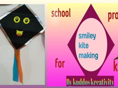 Simple kite making school project|kite making for decoration|classroom decoration craft