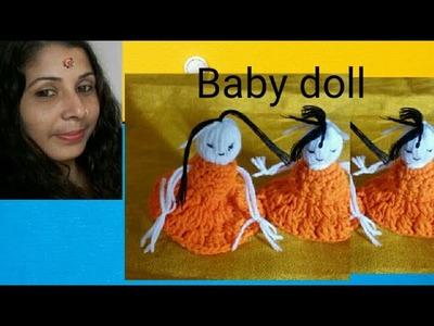 Woollen craft crochet doll making idea