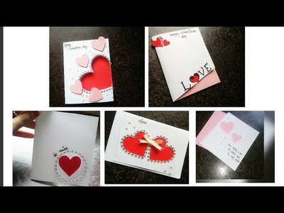 5 cards for valentine's day.handmade card for valentine's day.valentine's day card.handmade card