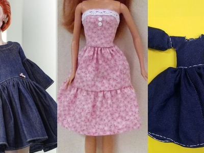 Awesome Glamorous party gown for Barbie,DIY Fast and easy Barbie dress&part 2