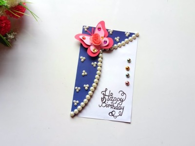 Beautiful Handmade Birthday card idea.Birthday card idea.