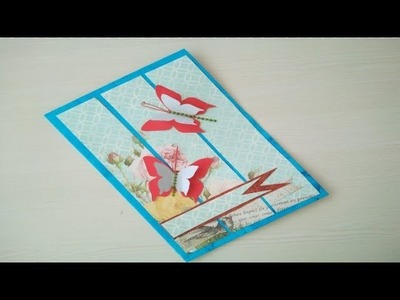 Easy Beautiful Handmade Butterfly Greeting Card For Friendship Day