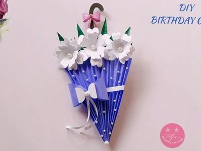 BEAUTIFUL HANDMADE UMBRELLA BIRTHDAY CARD TUTORIAL   MOTHER'S DAY CARD