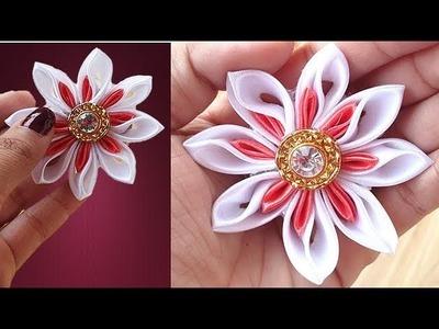 Beautiful Ribbon Flower Tutorial