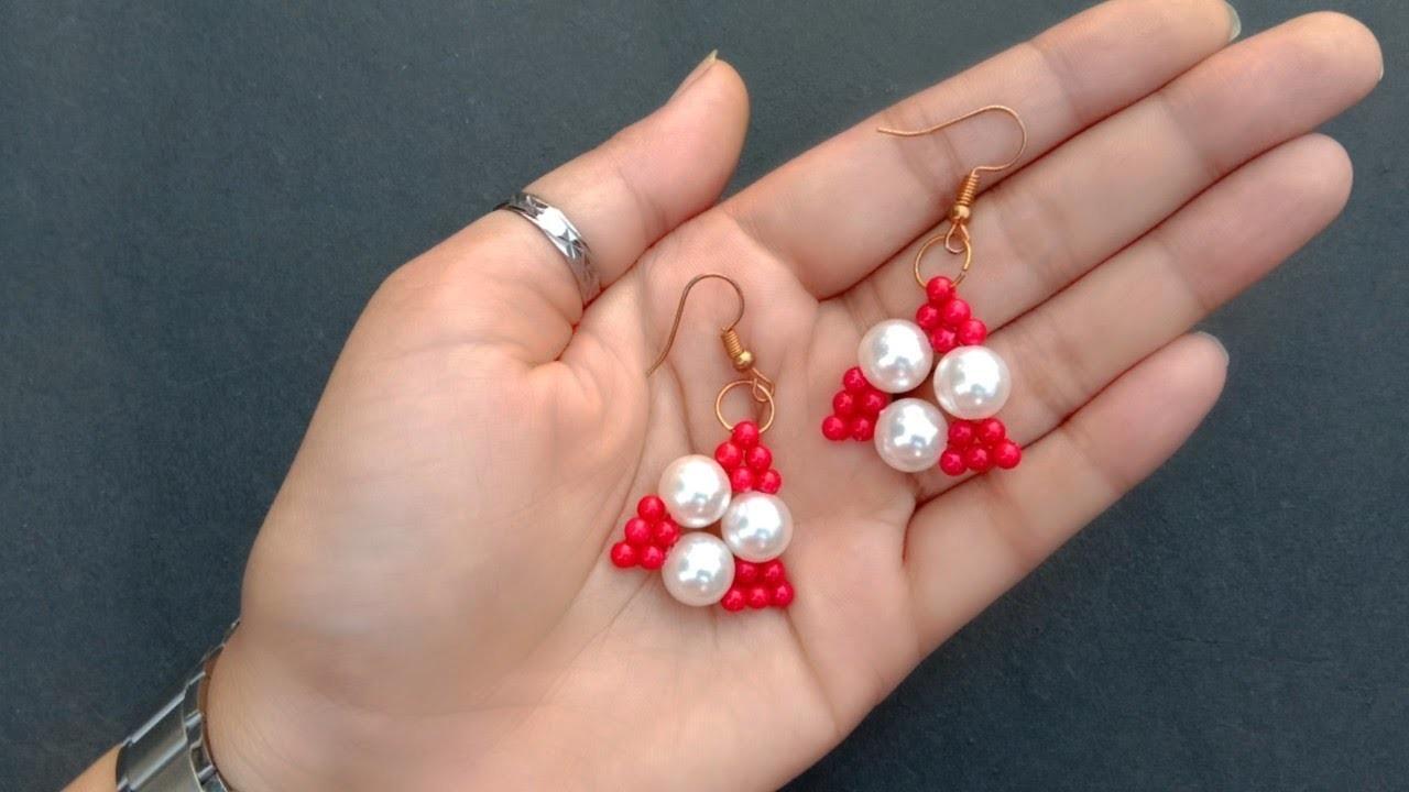 Cute Pearl Earrings. Tutorial. Quick And Easy. useful & easy