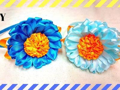 D.I.Y. | Super Easy Satin Ribbon cute Flower Headband