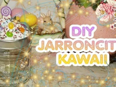 DIY jarroncito decorativo | DIY kawaii jar organizer