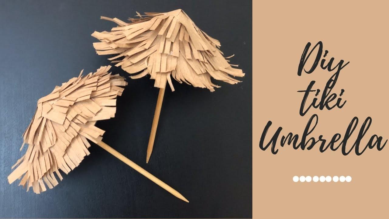Diy paper tiki umbrella | how to make thatched umbrella | paper craft | paper umbrella