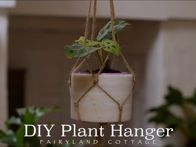 DIY Plant Hanger - natural and simple