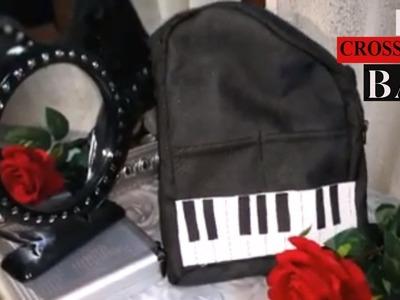 DIY:  Tutorial Crossover bag (Piano shape)