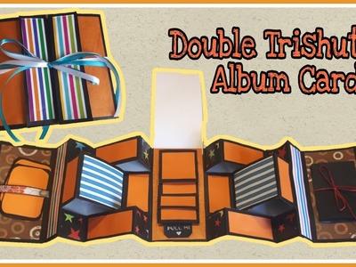 Double Tri-shutter Album Card   Handmade Greeting Card Ideas