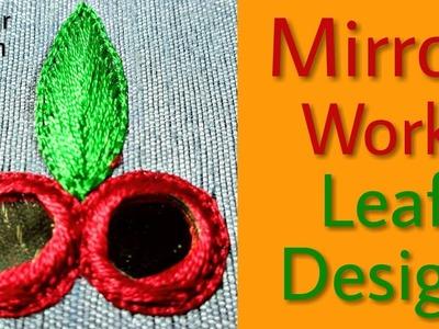 Gulzar Stitch: Mirror Work Leaf Design    Aari Work Tutorial   Hand Embroidery