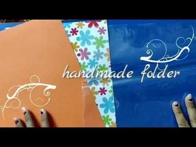 Handmade folder. how to make folder 2019. enjoy school projects
