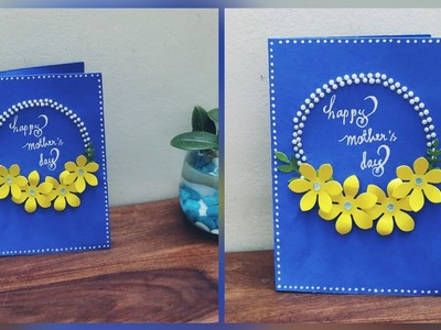 Handmade greeting card for mother's day.gift ideas for mother's day.Mother's day greetings card.diy