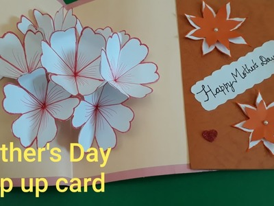 Handmade Mothers Day Cards Step by step l Mother's day pop up card