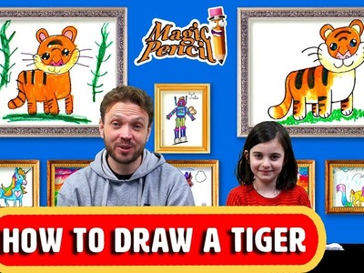 How To Draw a tiger | Learn to Draw | Step by Step Tutorial