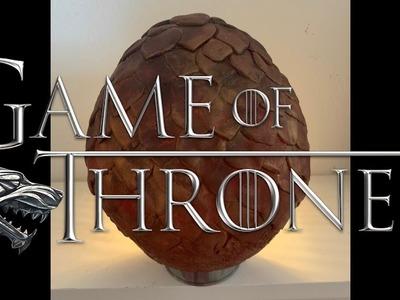 How to make a Dragon Egg from GAME OF THRONES tutorial   Ovo de dragao passo a passo   GOT