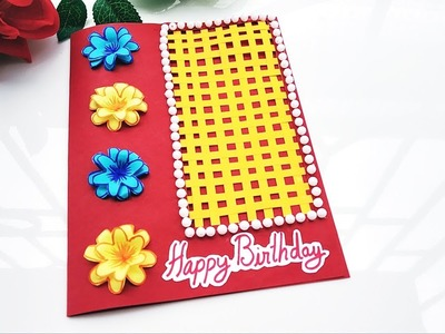 How to Make a Greeting Card for Birthday Easy at Home   Handmade Cards Ideas