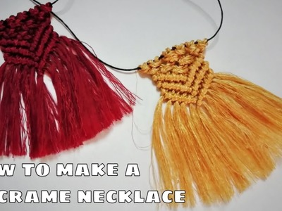 How to make easy macrame necklaces! *tutorial*