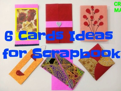 How to make Scrapbook pages. 6 birthday Card ideas. DIY Birthday Scrapbook. Scrapbook Tutorial