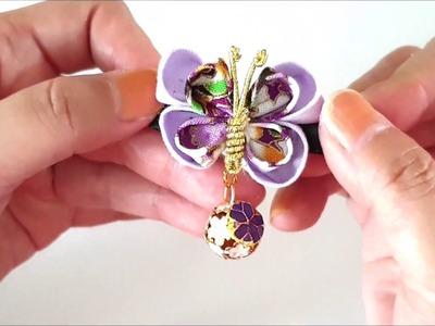 ???? Japanese Kanzashi Design Butterfly Hair Clip Tutorial | Kanzashi Flower ????