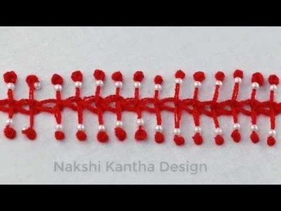 Modern hand embroidery: Modified Chain Stitch   Hand Embroidery Tutorial for Beginners