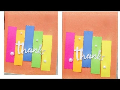 Thank you card.handmade thank you card.thanks card
