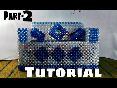 TUTORIAL:পুতির সোফা টিস্যু বক্স বানানো.(part=2). Make beaded sofa tissue box