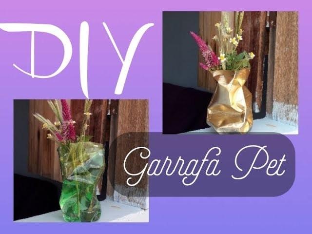 Vaso para flores com GARRAFA PET - DIY