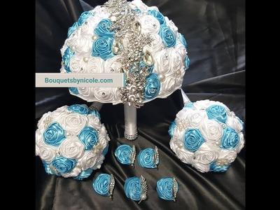 #1 DIY Brooch Bridal Bouquet Satin Roses l Glue Method l No Wires l Project Tutorial l Kit $29.99