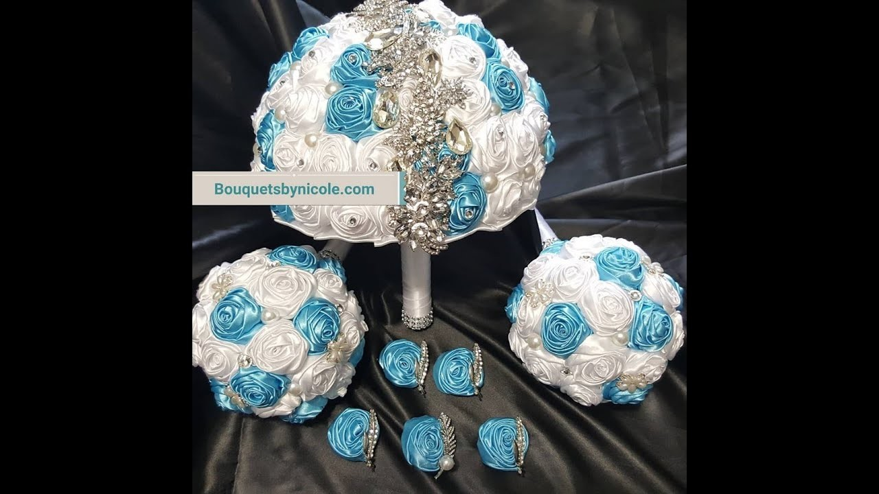 #1 DIY Brooch Bridal Bouquet Satin Roses l Glue Method l No Wires l Project Tutorial l Kit $29.99