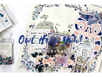 12x12 Scrapbook Process - #141 Owl Help You!